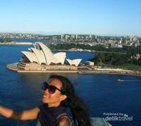 Pelabuhan Sydney dari Pylon Lookout,sangat spektakuler