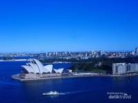 Pelabuhan Sydney dilihat dari Sydney Harbour Bridge,sungguh menakjubkan