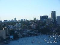 Aktifitas sailing boat di Pelabuhan Sydney