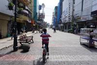 Anak usia 9 tahun, nyaman juga menggunakan sepeda ini dengan tinggi sadel pada posisi terendah.