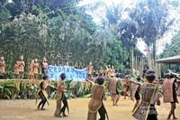 Tari Nusantara yang dibawakan anak-anak Desa Kedang Ipil. mereka menampilkan tarian yang bermakna keberagaman budaya nusantara.