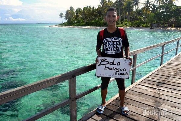 Selamat datang di Pulau Popoongan yang sering menjadi tuan rumah bagi wisatawan.