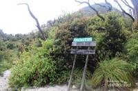 Papan nama yang menunjukkan wilayah hutan mati.