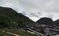 Landskap Desa Sembungan dari ketinggian