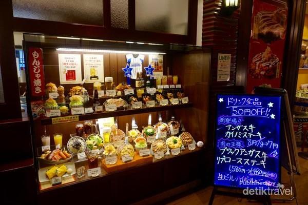 Berbagai dummy Okonomiyaki yang sangat menarik