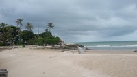 Pantai Parai Tenggiri terletak di Desa Sinar Baru Kecamatan Sungai Liat, Bangka