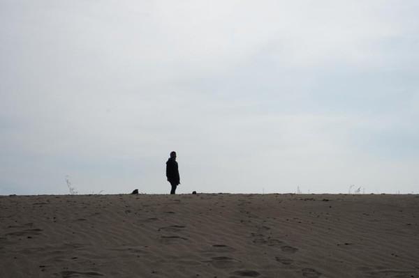 Bisa foto siluet di gumuk pasir