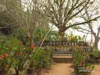 Sepanjang perjalanan menaiki Phou Si, pepohonan rindang membuat jalur tidak terlalu panas