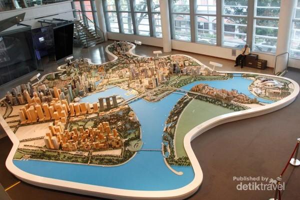 Maket negara-kota Singapura yang lengkap
