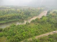 Sungai Namsong dilihat dari balon udara