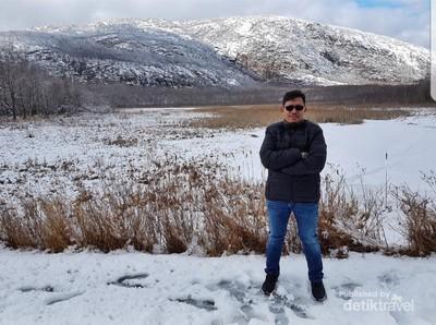Taman Nasional Cantik Berselimut Salju