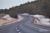 Jalanan menuju Acadia National Park yang sangat indah