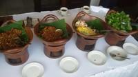 Menu yang disajikan dengan gaya khas Yogyakarta