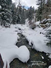 Ini Air terjun Fish Creek, letaknya sekitar 10km dari lokasi ski