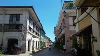 Calle Crisologo yang identik dengan bangunan khas Spanyol