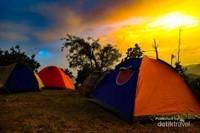 Sunset di camping ground Gunung Lembu