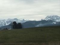 Pemandangan dari kereta menuju kota Fussen, dimana kami akan transit untuk menuju kastil.