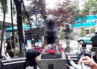 Patung Hachiko selalu ramai pengunjung