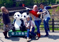Jangan lupa berfoto bersama patung panda