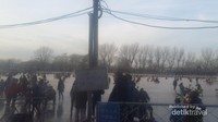 Ramainya Danau Shichahai di musim dingin