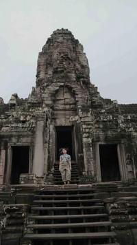 Saat tiba di Banyon Temple, Siem Reap