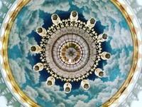 Lukisan Awan Pada Kubah Masjid Kubah Mas Depok