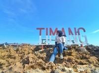 Tersedia beberapa spot foto di Pulau Timang