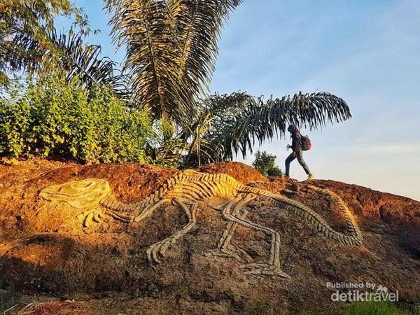 Fosil dinosaurus di Gunung Api Purba Nglanggeran