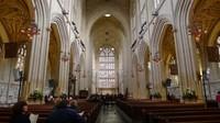 Interior Bath Abbey, gereja gothic yang dibangun di abad ke-7 Masehi