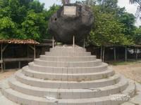 Terdapat monumen batu sebagai peletakan batu pertama oleh Bupati Karawang