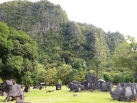 Leang leang terletak di Kecamatan Bantimurung, Kabupaten Maros