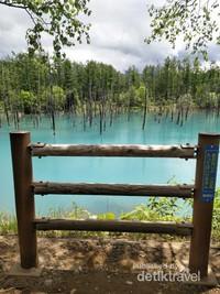 Spot photo di pinggir Blue Pond