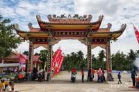 Tempat prosesi ritual Bakar Tongkang.