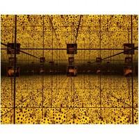 Reflection room dengan tema polkadot hitam dan kuning bakal bikin konten di instagrammu makin menarik