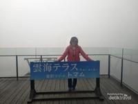 Unkai Terrace ketika cuaca berkabut