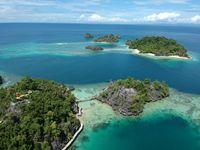 Pulau Cinta dari ketinggian