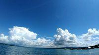 Langit yang cerah di sekitar Pulau Labengki