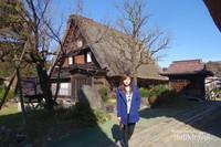 Salah satu gassho-zukuri alias rumah tradisional Jepang yang terletak di Shirakawa