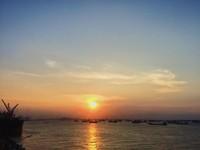 View sunset di Surabaya North Quay