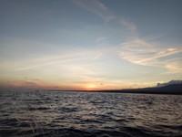 Beautiful sunrise in Lovina beach