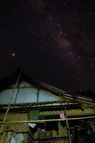 Gugusan Bima Sakti yang terlihat dari Kampung Gajeboh