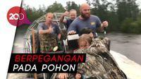Evakuasi Ibu Hamil dan Keluarganya dari Banjir Florence
