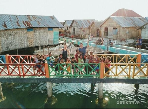 Euodia Octavia dan Andri disapa keramahan Suku Bajo, Kampung Mola Wakatobi