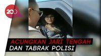 Rekaman Video Wanita Tabrak Polisi Usai Terobos Rombongan Jokowi