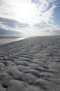 Lekukan pasir pantai