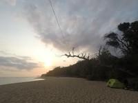 Kemping di Pantai Ngliyep.
