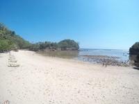 Pantai Pasir Panjang yang sedang surut