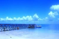 Dermaga untuk berlabuh di Pulau Ketawai