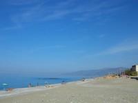 Langit dan air laut yang biru