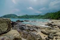 Pantai yang luas menjadi ciri khas Wediombo